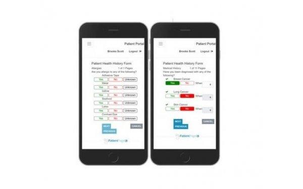 Patient portal mobile view