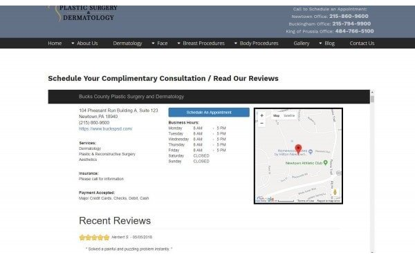 Online scheduling and website reviews