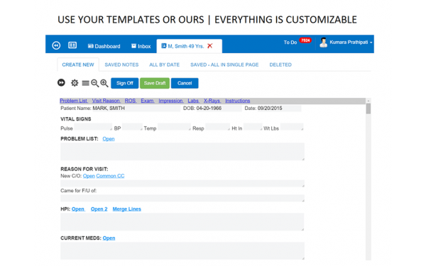Customizable templates
