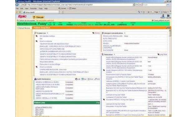 EpicCare EMR software