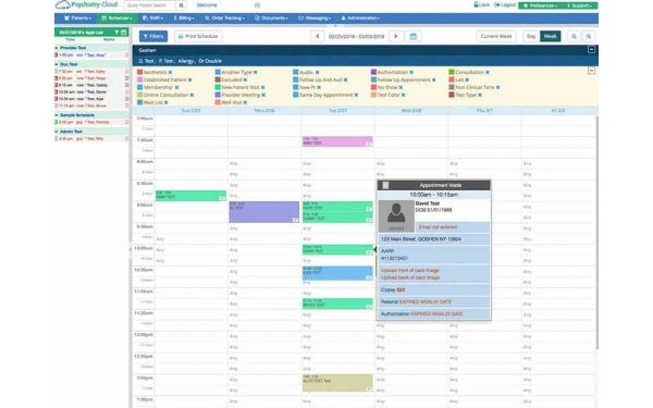 Appointments scheduler