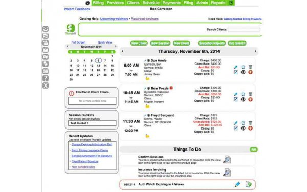 Primary dashboard