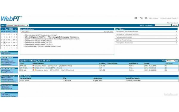 WebPT EMR & Billing Software